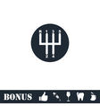 Gear shifter icon flat vector image