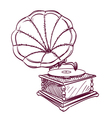 phonograph hand drawn vector image vector image