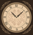 Close-up vintage clock with vignette arrows vector image vector image