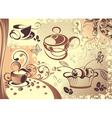 coffee cup design vector image vector image