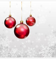 Christmas background with snowflakes and balls vector image vector image