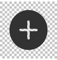 Positive symbol plus sign Dark gray icon on vector image