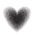 Heart drawn with stipple brush and polka-dots vector image