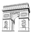 arch of triumph isolated on the white vector image