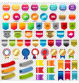big collection sale stickers and web ribbons set vector image