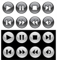 buttons for player vector image