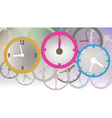 colorful clock vector image