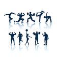fitness silhouettes vector image