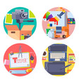 graphic design concept icons set with photography vector image