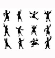 happy graduates Silhouette vector image