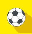 soccer ball cartoon flat icon brazil vector image