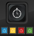 Stopwatch icon symbol Set of five colorful stylish vector image