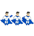 Superhero mascot vector image