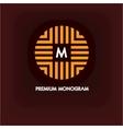 Modern monogram emblem logo Ring of the vector image