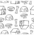 doodle of dog pet art vector image