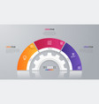 circle chart template for infographics 3 vector image