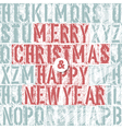 merry christmas letterpress concept vector image