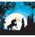 Castle Unicorn and fairy vector image