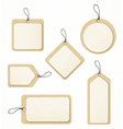 recycled paper tag set vector image vector image