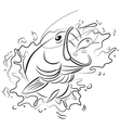 Drawing fishing vector image