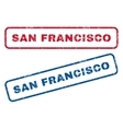 San Francisco Rubber Stamps vector image