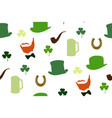st patricks day seamless pattern vector image