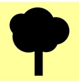 Tree sign Flat style icon vector image