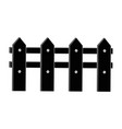 wooden fence icon vector image