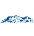 mountain landscape - snowy mountain range vector image vector image