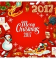 Christmas and New Year festive poster design vector image