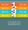 document info banner vector image