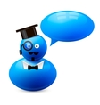 Icon of person with speech bubble vector image vector image