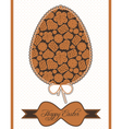 composition with cookies in easter egg vector image vector image