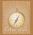 retro style poster old compass vector image