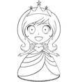 Princess Coloring Page 1 vector image vector image