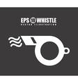 whistle design vector image