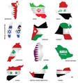 Gulf State Flags vector image