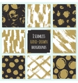 Set of 8 hand drawn seamless trendy patterns with vector image vector image