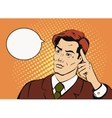 Thinking businessman with a speech bubble Comic vector image vector image