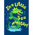 Sea monster splashing in some water vector image