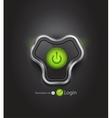 futuristic login page vector image