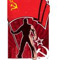 Flag Bearer Poster USSR vector image