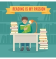 Read books concept vector image