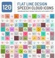 Set of line design speech bubbles technology vector image