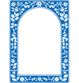 Blue floral arch frame vector image