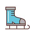 brightly cute ice skate cartoon vector image
