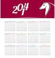 Calendar 2014 vector image