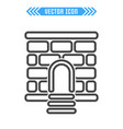 fortress icon sign symbol vector image