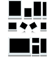 instant photo set isolated vector image