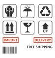 shipping and package handing symbol vector image